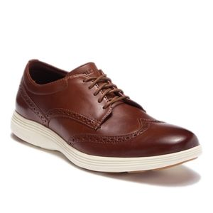 Cole Hann Brown Grand Tour Wing Tip Oxford
